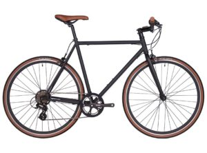 Fyxation: Pixel 7 Speed Black and Tan – Bicicleta Urbana