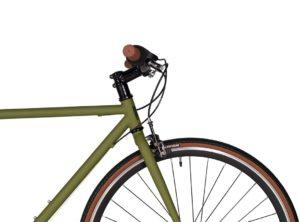 Fyxation: Pixel 7 Speed Olive Green – Bicicleta Urbana