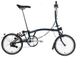 Brompton: M6L Tempest Blue 6 vel. – Bicicleta Plegable