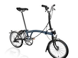 Brompton: M3L Tempest Blue & Black 3 vel. – Bicicleta Plegable